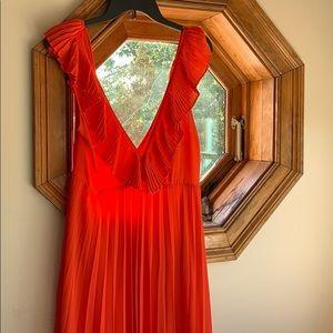 Zara shear red dress with slip